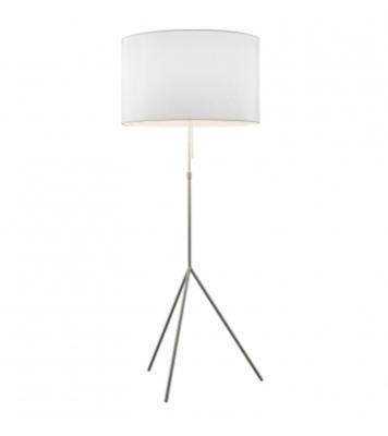 SIGNORA - stojací lampa, L (Ø 55 cm), matný nikl / bílá - 1
