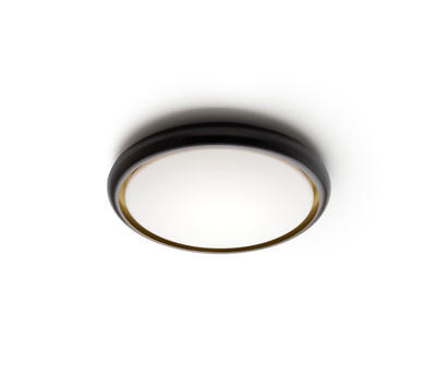 SKY - stropní nebo nástěnné světlo, černázvenku, zlatá zevnitř