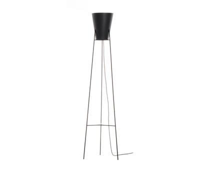 SPUTNIK - stojací lampa, černá