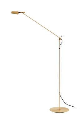 TEMA - stojací lampa, saténově zlatá