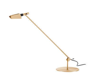 TEMA - stolní lampa, saténově zlatá