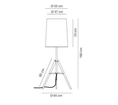 TRIPOD - stojací lampa, výška 160 cm