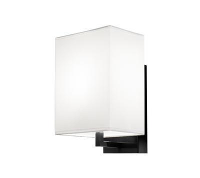 TURÍN - nástěnná lampa, konstrukce černá / stínidlo bílé
