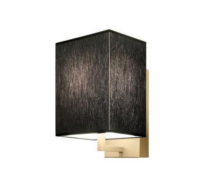 TURÍN - nástěnná lampa, konstrukce zlatá / stínidlo černé
