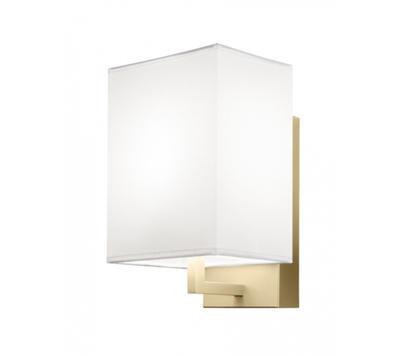 TURÍN - nástěnná lampa, konstrukce zlatá / stínidlo bílé