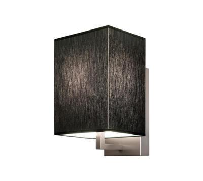 TURÍN - nástěnná lampa, konstrukce matnýnikl / stínidlo černé