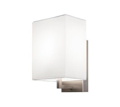 TURÍN - nástěnná lampa, konstrukce matnýnikl / stínidlo bílé