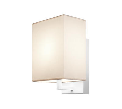 TURÍN - nástěnná lampa, konstrukce bílá / stínidlo béžové