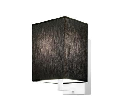 TURÍN - nástěnná lampa, konstrukce bílá / stínidlo černé