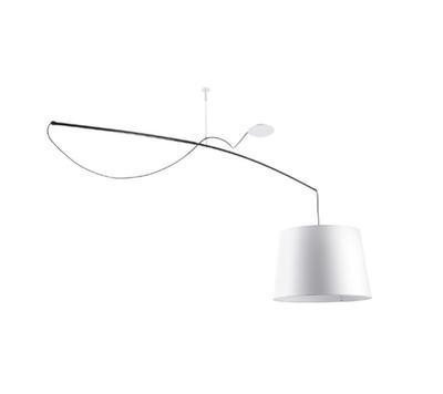 Robinson - závěsná lampa, průměr 64 cm bílé stínidlo