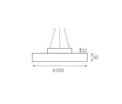 LED2 RINGO 60 P/N-Z, W ZÁVĚSNÉ BÍLÉ DALI/PUSH - 2