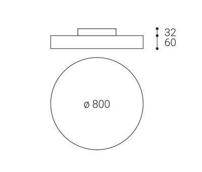 LED2 RINGO 80 P/N, W DIM 70+6W 3000K - 2