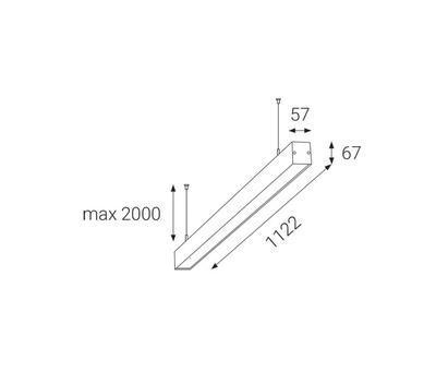 LED2 LIPO 113 P-Z, B ZÁVĚSNÉ ČERNÉ 3000K - 2