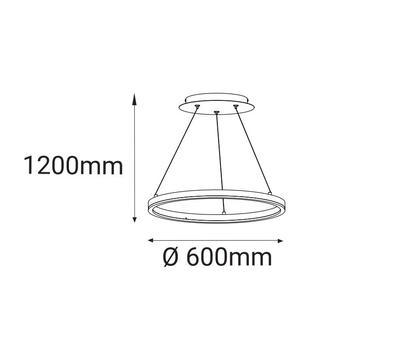 LED2 CIRCLE 60 P-Z, B ZÁVĚSNÉ ČERNÉ - 2