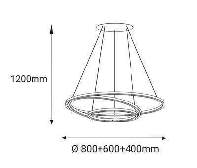 LED2 CIRCLE 3 P-Z, W ZÁVĚSNÉ BÍLÉ - 2