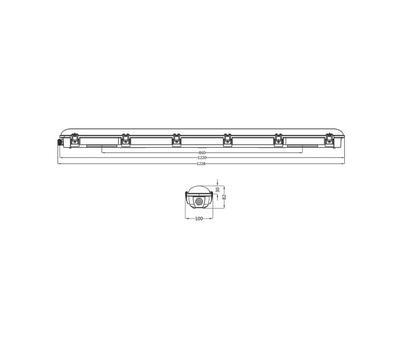 LED2 DUSTER 120 45W LED IP66 - 2
