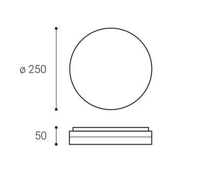 LED2 ROUND II 25 12W 3CCT - 2