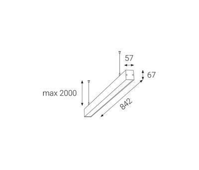 LED2 LIPO 85 P-Z, W ZÁVĚSNÉ BÍLÉ 3000K - 2