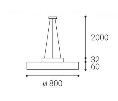 LED2 RINGO 80 P/N-Z, W DIM 70+6W 3000K - 2