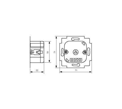 Stmívač LED žárovky LED Dimmer ABB 6523 U-500 - 2
