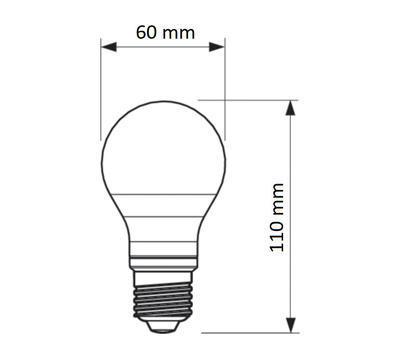 CorePro LEDbulb ND 8-60W A60 E27 827 - 2