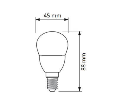 CorePro LEDluster ND 5.5-40W E14 827 P45 FR - 2