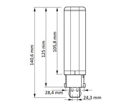 CorePro LED PLC 6.5W 830 4P G24q-2 ROT - 2