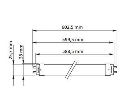 CorePro LEDtube 600mm 8W 840 Glass T8 - 2