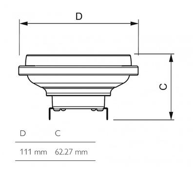 MASTER LEDspotLV D 11-50W 930 AR111 24D - 2