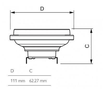 MASTER LEDspotLV D 20-100W 827 AR111 24D - 2