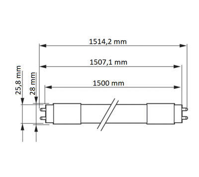 MASTER LEDtube 1500mm HO 20W830 T8 ROT - 2