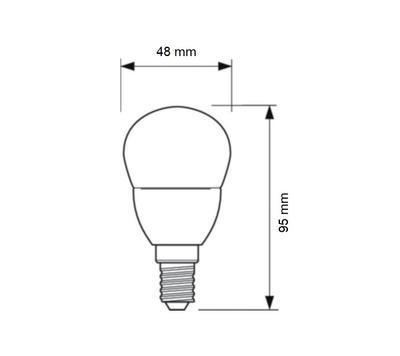 CorePro LEDluster ND 7-60W E14 827 P48 FR - 2