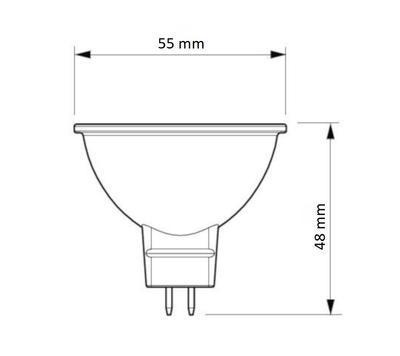 CorePro LEDspot ND 5-35W 827 MR16 36D - 2