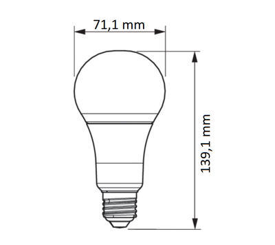 LED SceneSwitch E27 100/50/15W 827 FR - 2