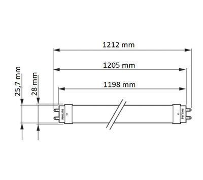 CorePro LEDtube 1200mm HO 18W 840 T8 - 2