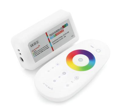 Dotykový ovladač MI-LIGHT RGB 3x6A bílá - 2
