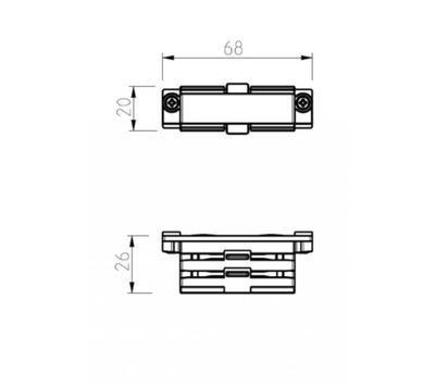 Spojka GLOBAL Trac N/A  XTS21-3 Bílá - 2