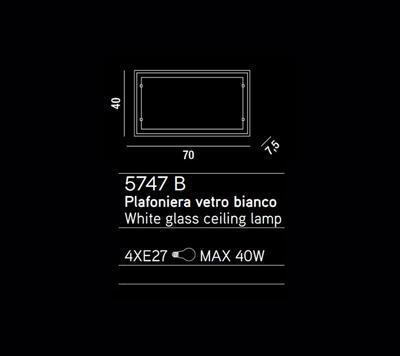 PERENZ - Stropní nebo nástěnné světlo, 5747 B - 2