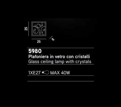 PERENZ - Stropní nebo nástěnné světlo, 5980 - 2