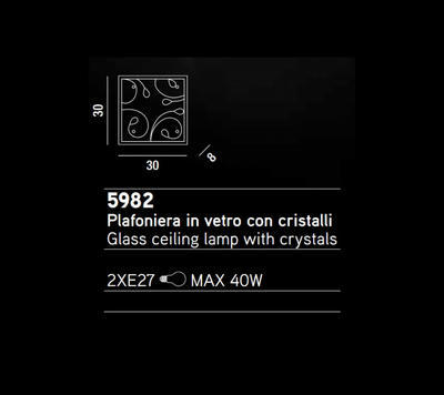 PERENZ - Stropní světlo, 5982 - 2