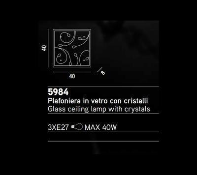 PERENZ - Stropní nebo nástěnné světlo, 5984 - 2