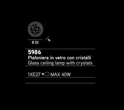 PERENZ - Stropní nebo nástěnné světlo, 5986 - 2