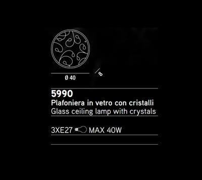 PERENZ - Stropní nebo nástěnné světlo, 5990 - 2