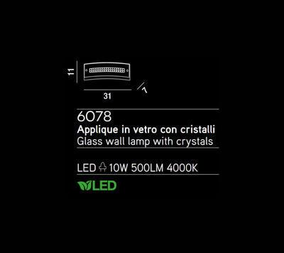 PERENZ - Nástěnné světlo, 6078 - 2