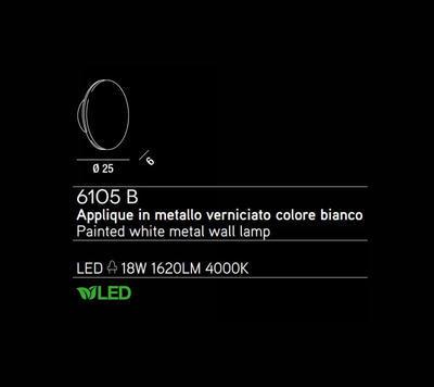 PERENZ - Nástěnné světlo, 6105 - 2