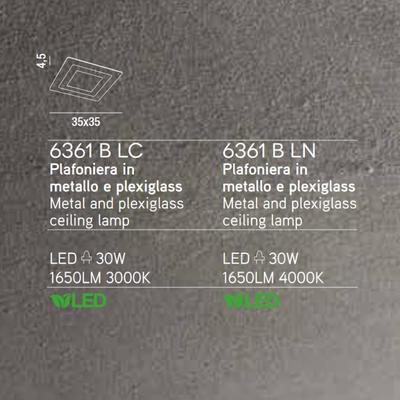 PERENZ - Stropní světlo, 6361 - 4000 K - 2