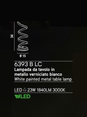 PERENZ - Stolní lampa 6393, Bílá - 2