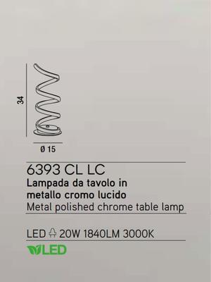 PERENZ - Stolní lampa 6393, Chromová - 2