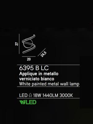 PERENZ - Nástěnné světlo 6395, Bílá - 2