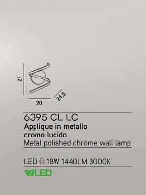 PERENZ - Nástěnné světlo 6395, Chromová - 2